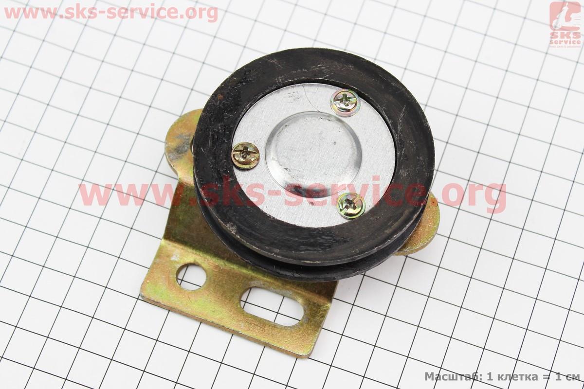 Ролик натяжний ременя + підшипник 6201 ZZ + кріплення (603054)