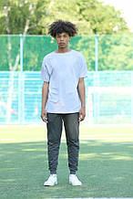 Темно серые спортивные штаны джоггеры QW