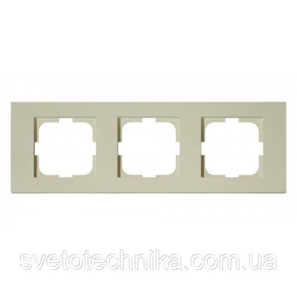 Рамка 3-а кремова GRANO