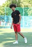 Чорна футболка з логотипом Nike та червоні шорти, фото 4
