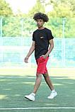Чорна футболка з логотипом Nike та червоні шорти, фото 10