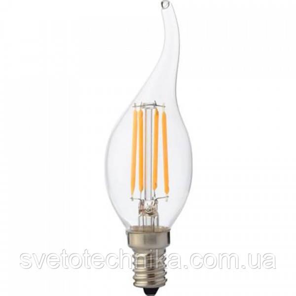 Світлодіодна лампа FILAMENT FLAME-4 4W Е14 4200К