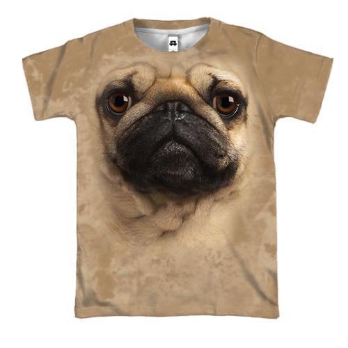 3D футболка з мопсом