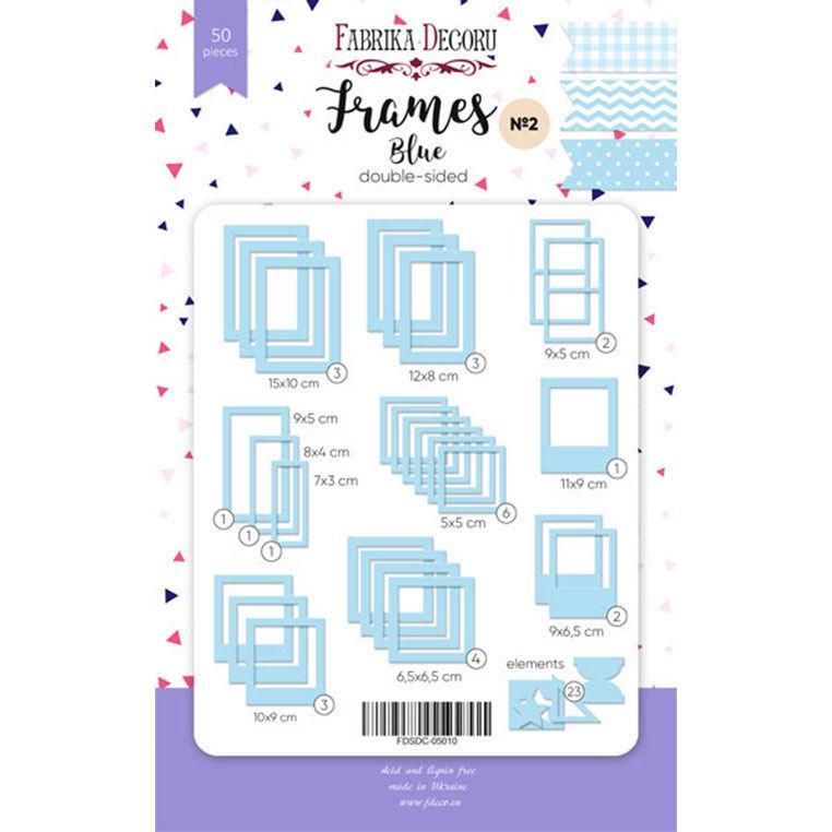Набор высичек - рамок для декорирования Фабрика Декора №2 50шт FDSDC-050**_Голубой