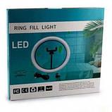 """Кільцева LED лампа USB 30cm для селфи 12"""" 028 RING LIGHT, фото 2"""