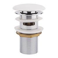 Донний клапан для раковини Q-tap F008-1 WHI з переливом