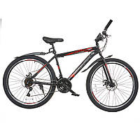 Велосипед SPARK FORESTER 26-ST-17-ZV-D (Черный с красным)