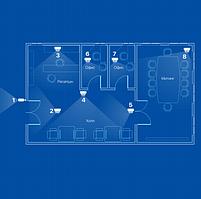 IP відеоспостереження 8 камер (2Мп) для офісу