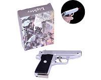 Зажигалка пистолет с ножом Walther PPK 4967 Silver (Турбо пламя)