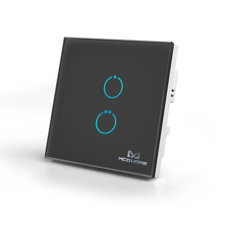 Сенсорный выключатель Z-Wave MCO Home на 2 канала черный — MCO_TPS412B