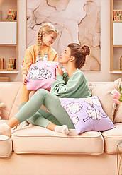 Отзывы (2 шт) о Faberlic Наволочка для подушки лиловая Милая овечка L OVE арт 910204