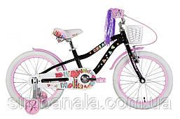 """Велосипед 18"""" Formula CREAM 2021 (чорний з бузковим)"""