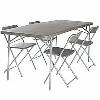 Стол со стульями Vango Orchard XL 182 Table and Chair Set Grey (TBNORCHARG10TET)