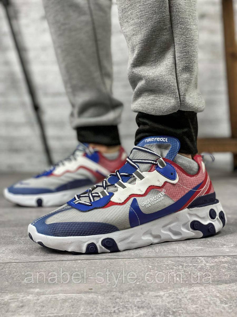 Кросівки чоловічі 15393, Nike React, сині, [ 42 44 ] р. 42-27,0 див.