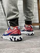 Кросівки чоловічі 15393, Nike React, сині, [ 42 44 ] р. 42-27,0 див., фото 2