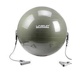 Фітбол з еспандером LiveUp GYM BALL WITH EXPANDER