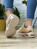 Кросівки жіночі 17143, Air, бежеві, [ 36 38 39 40 41 ] р. 36-23,3 див., фото 3