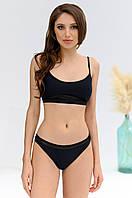 Жіночий купальник роздільний чорний, фото 1