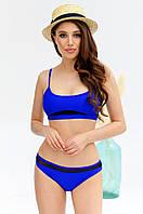 Женский купальник раздельный синий, фото 1