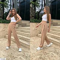 Прогулянкові штани жіночі спортивні розкльошені вільні без манжетів р-ри L-XL, S-M арт. 170