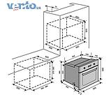 Ventolux EO56M-6K BK (6 программ) электрический духовой шкаф, фото 2