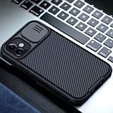 "Карбонова накладка Nillkin Camshield (шторка на камеру) для Apple iPhone mini 12 (5.4""), фото 5"