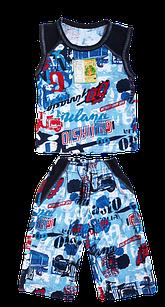 """Костюмы детские футболка безрукавка бриджи """"Американка"""" для мальчика р.52. От 4шт по 36грн"""