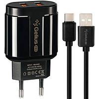 Сетевое Зарядное Устройство Gelius Pro Avangard GP-HC06 2USB 2.4A + Cable Type-C