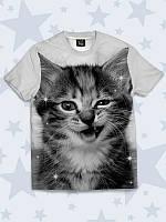 Детская футболка Дерзкий котик, фото 1