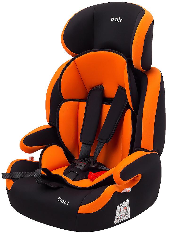 Автокрісло Bair Beta 1/2/3 (9-36 кг) DB2421 чорний - помаранчевий