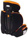 Автокрісло Bair Beta 1/2/3 (9-36 кг) DB2421 чорний - помаранчевий, фото 7