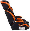 Автокрісло Bair Beta 1/2/3 (9-36 кг) DB2421 чорний - помаранчевий, фото 9