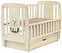 Ліжко Babyroom Собачка маятник, ящик, відкидний пліч DSMYO-3 бук слонова кістка, фото 2