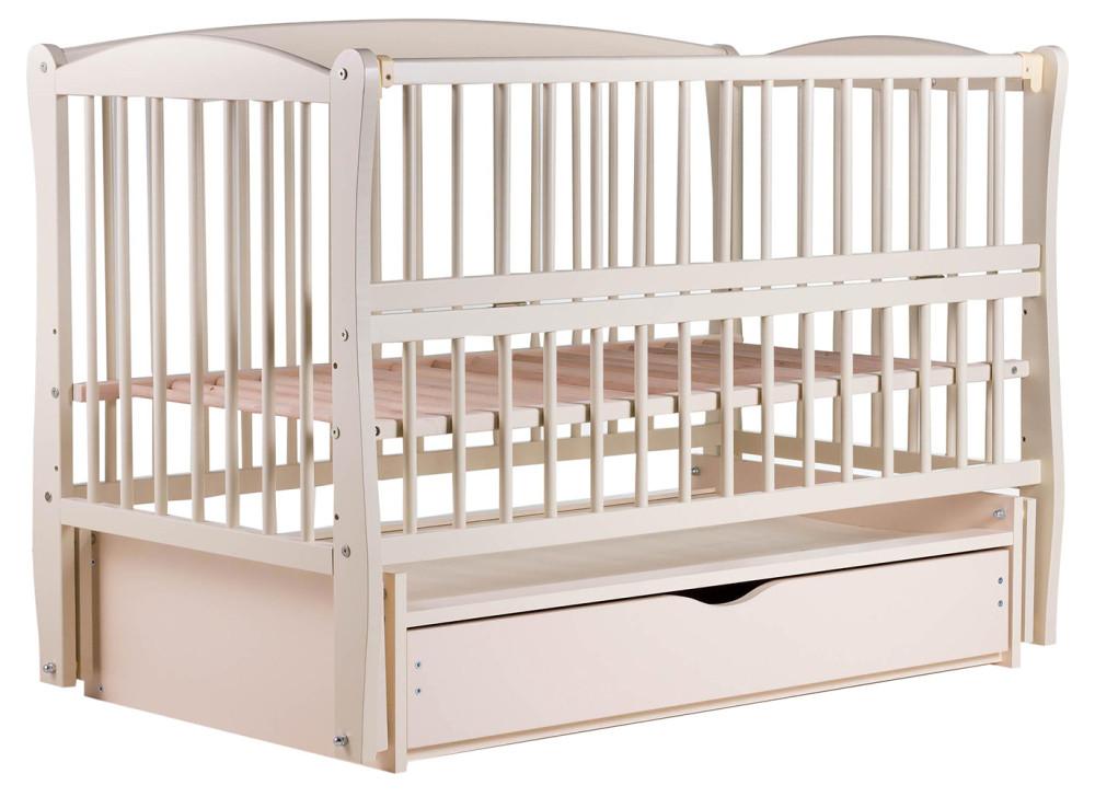 Ліжко Babyroom Еліт маятник, ящик, відкидний пліч DEMYO-5 бук слонова кістка