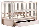 Ліжко Babyroom Еліт маятник, ящик, відкидний пліч DEMYO-5 бук слонова кістка, фото 3