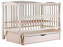 Ліжко Babyroom Еліт маятник, ящик, відкидний пліч DEMYO-5 бук слонова кістка, фото 4