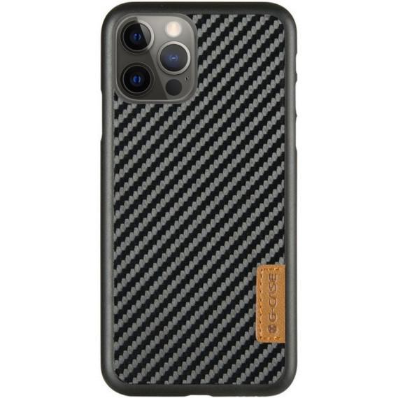 "Карбонова накладка G-Case Dark series для Apple iPhone Pro 12 / 12 (6.1"")"