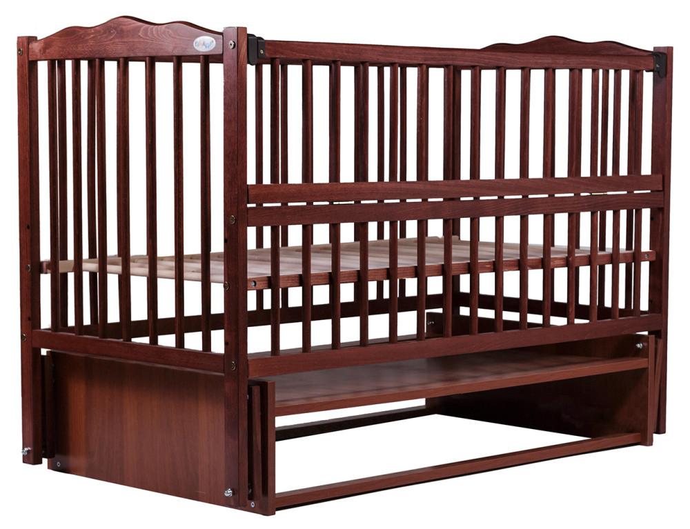Кровать Babyroom Веселка маятник, откидной бок DVMO-2  бук тик