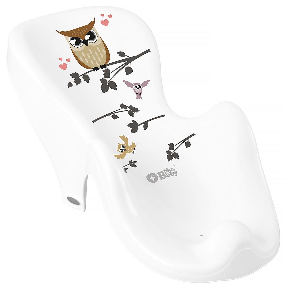 Гірка для купання Tega Owl (Plus Baby) PB-SOWA-003 нековзна 103 white