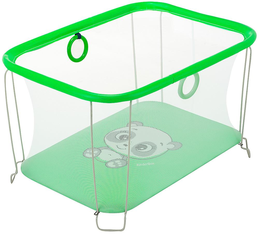 Манеж Qvatro Солнышко-02 мелкая сетка  зеленый (panda)