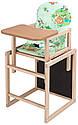 Стільчик - трансформер Babyroom Карапуз-100 eko МДФ стільниця зелений (ведмедики і бджілки), фото 2