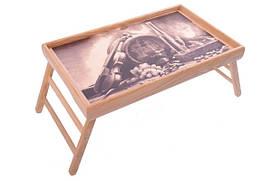 Столик для сніданку в ліжку PN01 бочонок