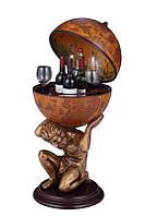 Глобус бар статуя підлоговий 480008 коричневий 420 мм