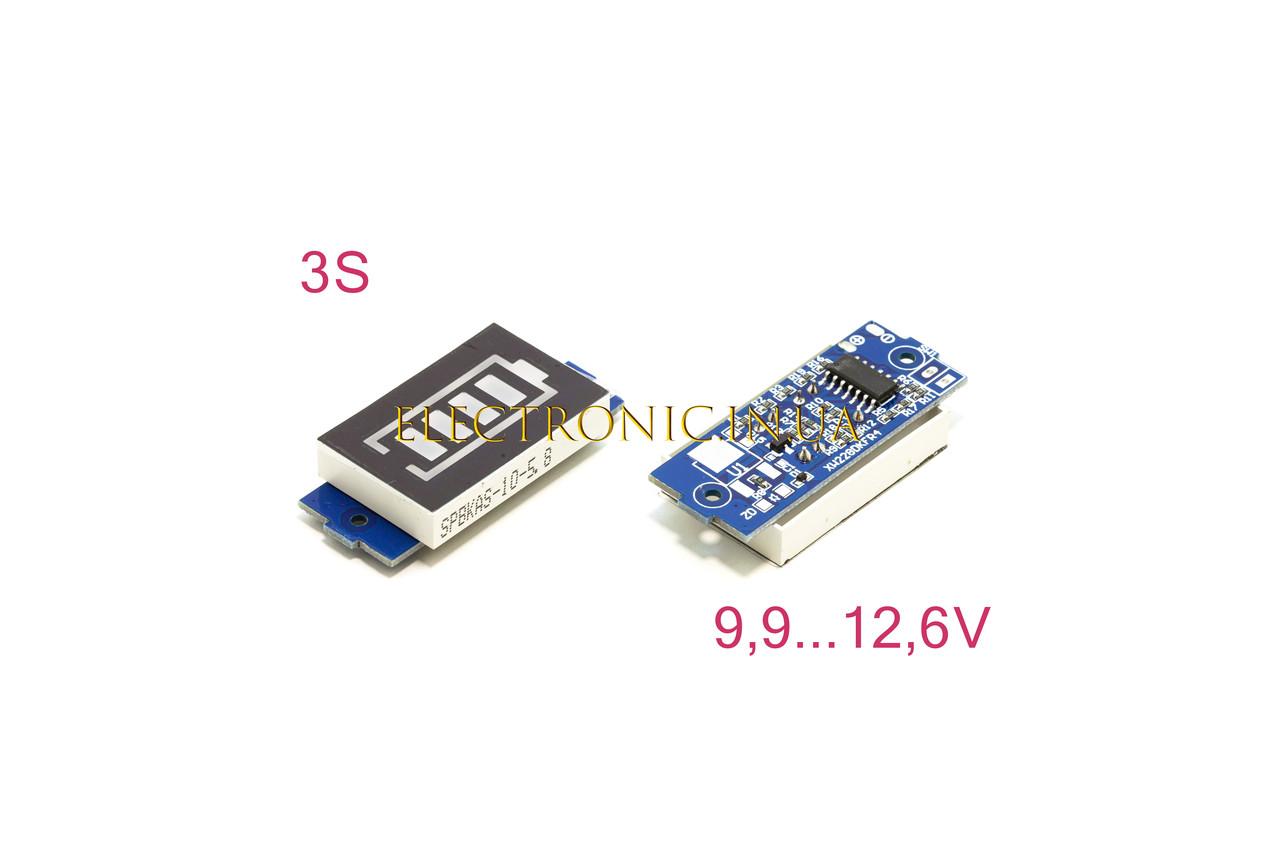 Индикатор заряда LI-ion аккумулятора с LED-индикатором 12,6V 3S синего свечения XW228DKFR4.