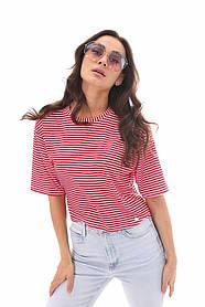 Женская полосатая футболка тельняшка