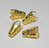 """Концевик """"колокольчик"""", 1,6см, золото, 4шт."""