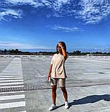 Жіночий повсякденний костюм літній Футболка та бриджі Італійський трикотаж Розмір 42-46 Різні кольори, фото 8