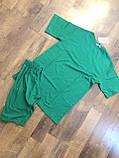 Жіночий повсякденний костюм літній Футболка та бриджі Італійський трикотаж Розмір 42-46 Різні кольори, фото 9