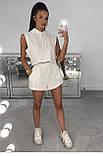 Женский летний костюм  футболка м капюшоном и шорты Турецкая двунитка Размер 42 44 46 В наличии 4 цвета, фото 4