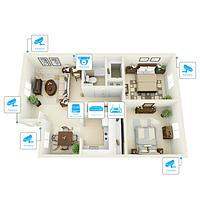 IP відеоспостереження 6 камер (2Мп) для приватного будинку